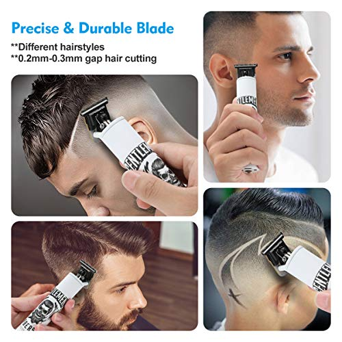 BESTBOMG Electric Pro Li Outliner Clippers Barber Grooming Kit Rechargeable Cordless Close Cutting T-Blade Trimmer Hair Clippers for Men Zero Gapped Detail Beard Shaver(T9)