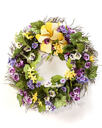 Yellow Artificial Wreath - 6