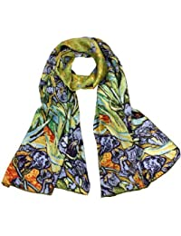 Women's 100% Luxury Long Silk Scarf - Van Gogh's Art Collection