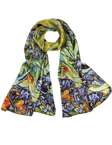 - 100% Luxurious Charmeuse Silk Van Gogh's