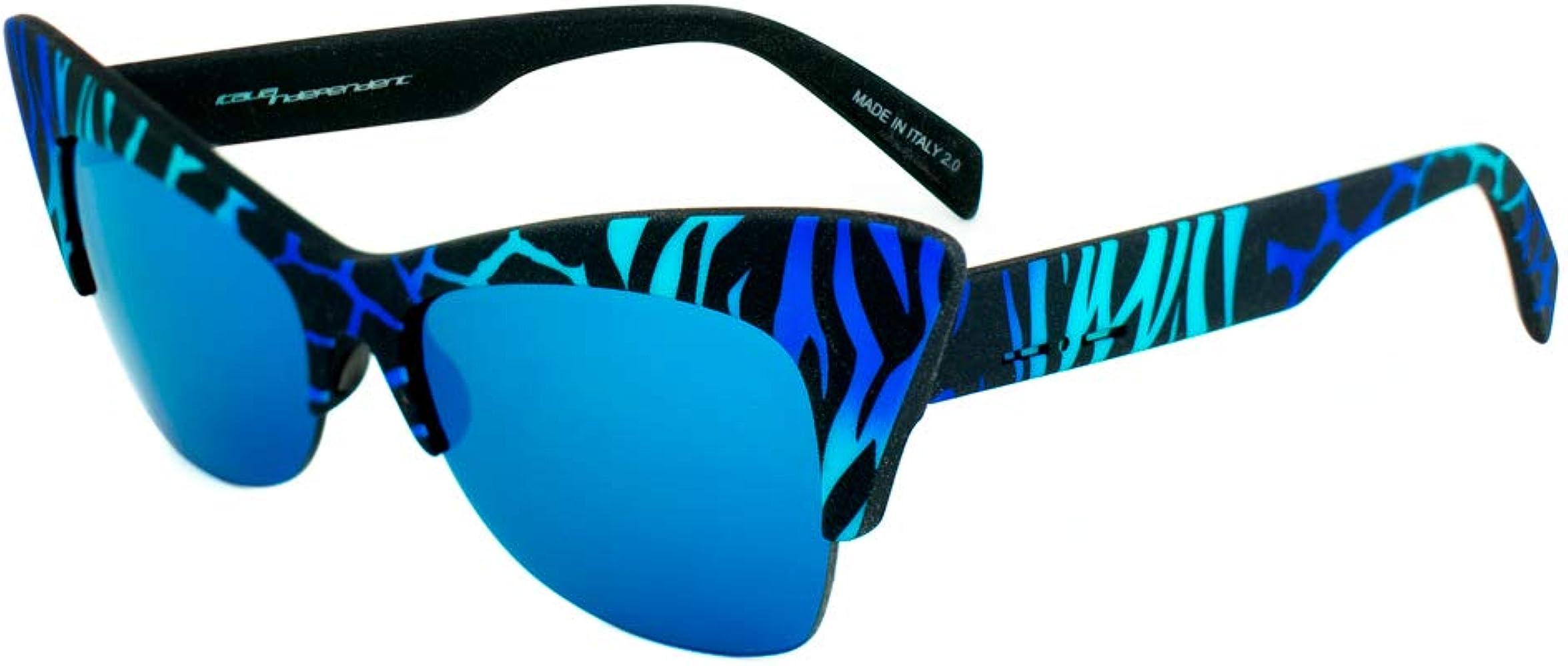 italia independent 0908-ZEF-022 Gafas de Sol, Azul/Negro, 59 ...