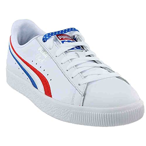 brand new c7b81 78fb7 Puma Men's Clyde 4Th Of July Ankle-High Leather Basketball ...