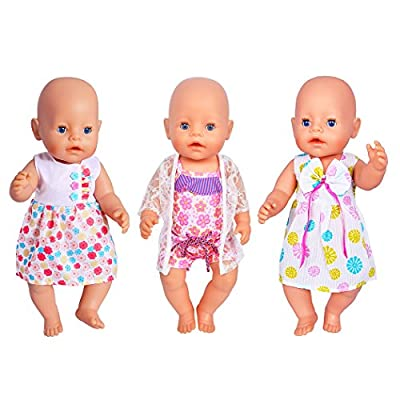 ebuddy 3 Sets Doll Clothes Sets for 14 to 16 Inch Alive Baby Dolls, New Born Baby Dolls, Bitty Baby Dolls and 18 Inch American Girl Dolls: Toys & Games