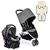 Britax 2017 B-Agile B-Safe 35 Travel System & Support Pillow - Steel