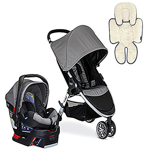 Britax 2017 B-Agile/B-Safe 35 Travel System & Support Pillow, Steel
