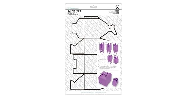 Xcut A4 - Platilla de Corte para Hacer Cajas de cartulina, diseño de Mariposa: Amazon.es: Hogar