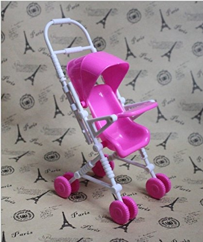 ThinkMax Plastic Furniture Infant Carriage Stroller For Barbie Doll Kelly