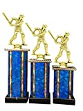 Male Cricket Award Trophy (3-Pack) 1st 2nd 3rd Place