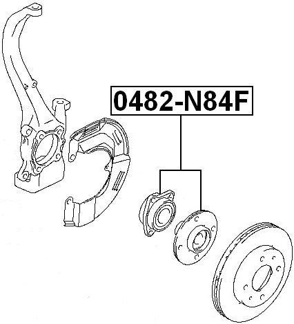 amazon febest mitsubishi front wheel hub oem mr403970 2005 Mitsubishi EVO amazon febest mitsubishi front wheel hub oem mr403970 automotive
