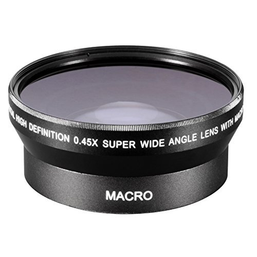 Neewer 0.45x 72mm Wide Angle Lens with Macro for Canon EOS 7D, 60D, EF 28-135mm f/3.5-5.6 IS, EF-S 18-200mm f/3.5-5.6 IS USM, 1v, XL2, XH A1, EF 35mm f/1.4L USM, EF-S 15-85mm f/3.5-5.6 IS - Canon Xh A1 Accessories