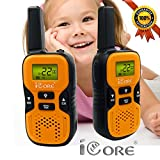Image of Kids Walkie Talkies, Kid Electronics set, Easy to use Long Range (up to 6KM/3.7 miles in open areas) Two-Way wakie-talkies for kids (Orange)