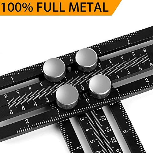 WEBSUN Multi Angle Measuring Ruler Aluminum Alloy Template Tool Professional Angle Measurement Tool for Craftsmen, Builders & Handymen