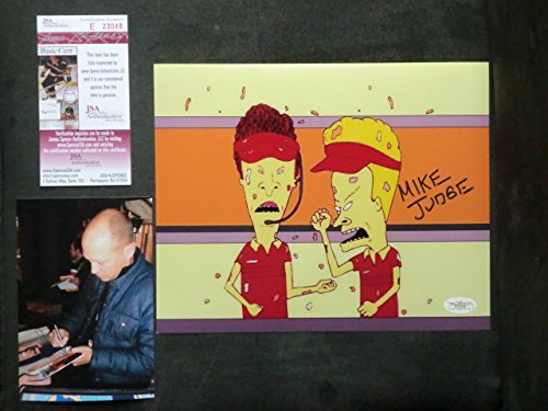 Mike Judge Rare! signed Beavis & Butthead 8x10 photo JSA coa with PROOF!!