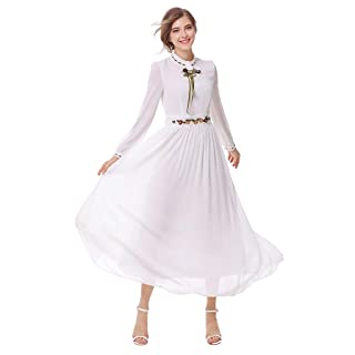 Women's Long Dress,KIKOY Muslim Solid Long Sleeve Arab Dress Islam Jilbab Dress