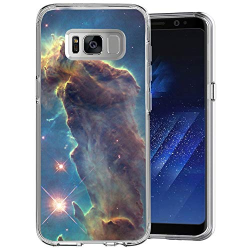 Owa UV Printing Case for Samsung Galaxy S8 Plus, Shock-Absorption Bumper Cover, Anti-Scratch Clear Back, HD Clear - Outer Space