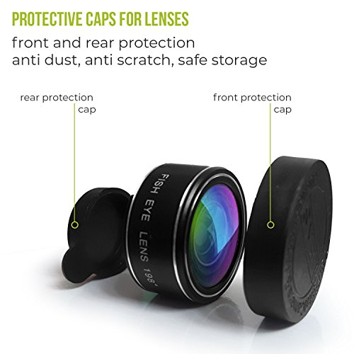 Phone Camera Lens Kit - 5 in 1 Universal Set For iPhone, Samsung, Mobile Phones and Tablets - 2X Zoom Telephoto, 198 Fisheye, 0.63X Wide Angle, 15X Macro, CPL Filter Lens For Cell Phones by SVIT (Image #5)