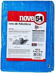 Lona De Polietileno Azul 8 M X 5 M Nove54 Nove 54