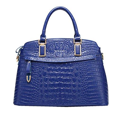 Yy.f Nuevos Bolsos De Mano Bolsos De Cuero De Cocodrilo Patrón Una Variedad De Colores Con Estilo Externa Práctica Interna. Multicolor Blue
