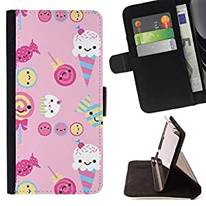 Jordan Colourful Shop - Ice Cream Candy Pink Sweets Lollipop For Apple Iphone 6 - Leather Case Absorci???¡¯???€????€????????&c