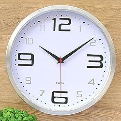Decorative Wall Clock/Modern Minimalist Silent Wall Clocks/Living Room Trendy Wall Clocks-J 12inch