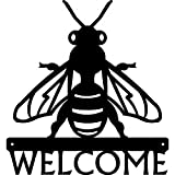 Cheap The Metal Peddler Honey Bee Welcome Sign – 12 inch Wide