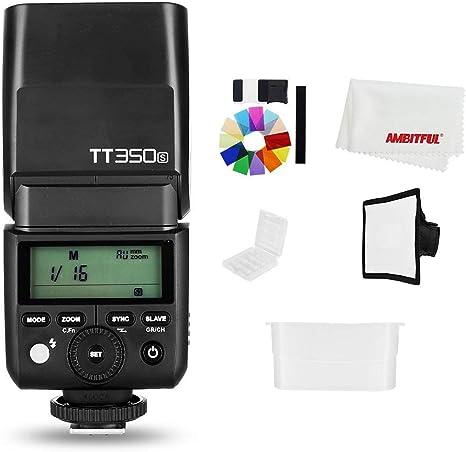 Godox Mini Speedlite TT350S - Flash de cámara TTL HSS GN36 para ...