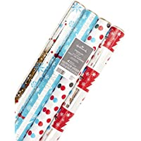 Hallmark Holiday Wrapping Paper Bundle with Cut Lines on...