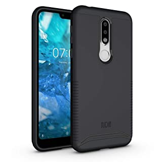 TUDIA Merge Nokia 7.1 Case with Heavy Duty Extreme Protection/Rugged but Slim Dual Layer Shock Absorption Case for Nokia 7.1 (2018) [NOT Compatible with Nokia 6.1] (Matte Black)