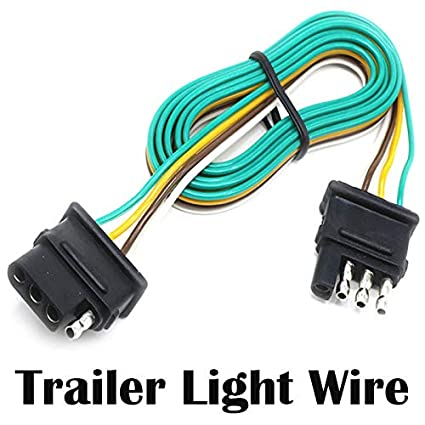 Amazon.com: Seapon Trailer Light Wire, 5ft (1.5m) Wire Harness for on 7 prong trailer wiring harness for boat, 4 pin trailer light diagram, 4 pin wiring diagram for light reading, 4 pin trailer wiring diagram wires, 12' sea nymph aluminum boat,