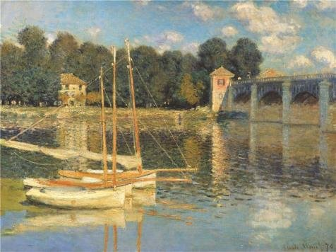 'The Bridge At Argenteuil,1874 By Claude Monet' Oil Painting, 10x13 Inch / 25x34 Cm ,printed On Perfect Effect Canvas ,this Amazing Art Decorative Canvas Prints Is Perfectly Suitalbe For Bar Decor And Home Decoration And (Jasper Bar Chair)