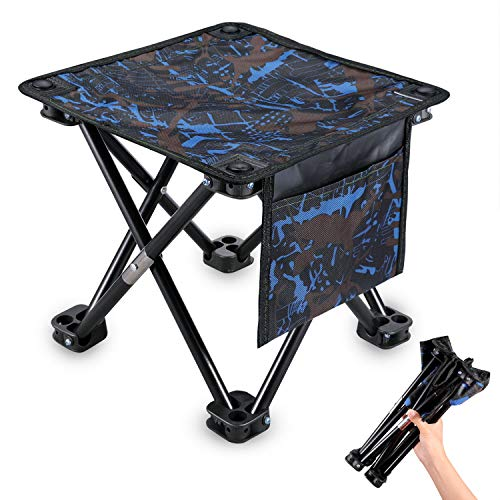 KUYOU Folding Camping Stool, 11.5 in 13.3in Portable Outdoor Mini Chair Camping Small Seat Barbeque Stool for Fishing BBQ Hiking Gardening and Beach, Travel