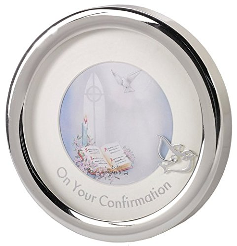 On Your Confirmation Silver Toned Round Picture Frame by Confirmation Picture Frame
