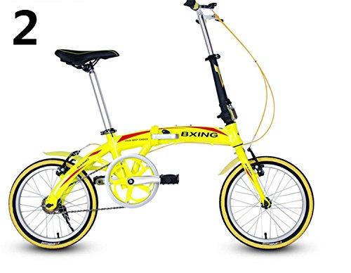 16インチ 折りたたみ自転車 折畳自転車 おりたたみ自転車 MTB おりたたみ自転車W688 B00QA16B1A イエロー イエロー