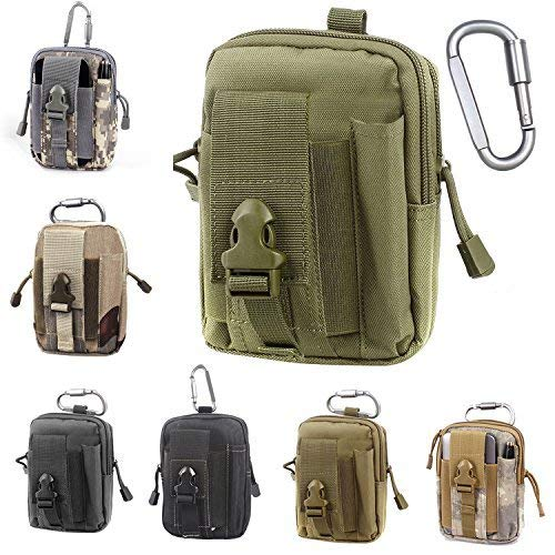 Unigear Compact Multipurpose Tactical Molle EDC Utility Gadget Pouch Tools Waist Bag with Holster Holder, 1000D(OliverGreen)