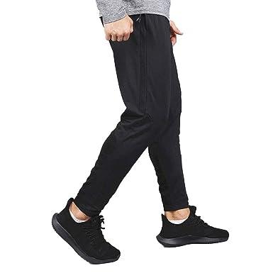 MEYINI Pantalón de chándal Reflectante para Hombre - Pantalones de ...