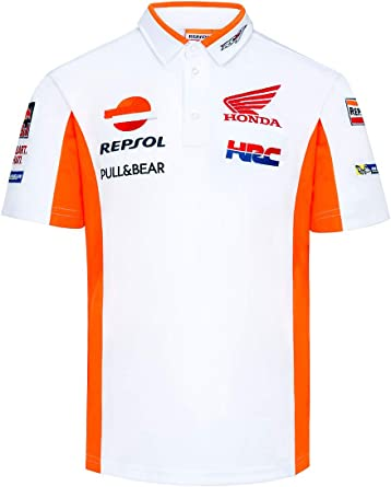 Polo Oficial HRC Racing Team MotoGP - Blanco - 4XL: Amazon.es ...