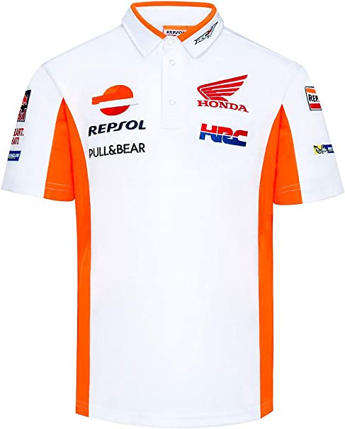 HRC Polo Oficial Racing Team MotoGP - Blanco - S: Amazon.es: Ropa ...