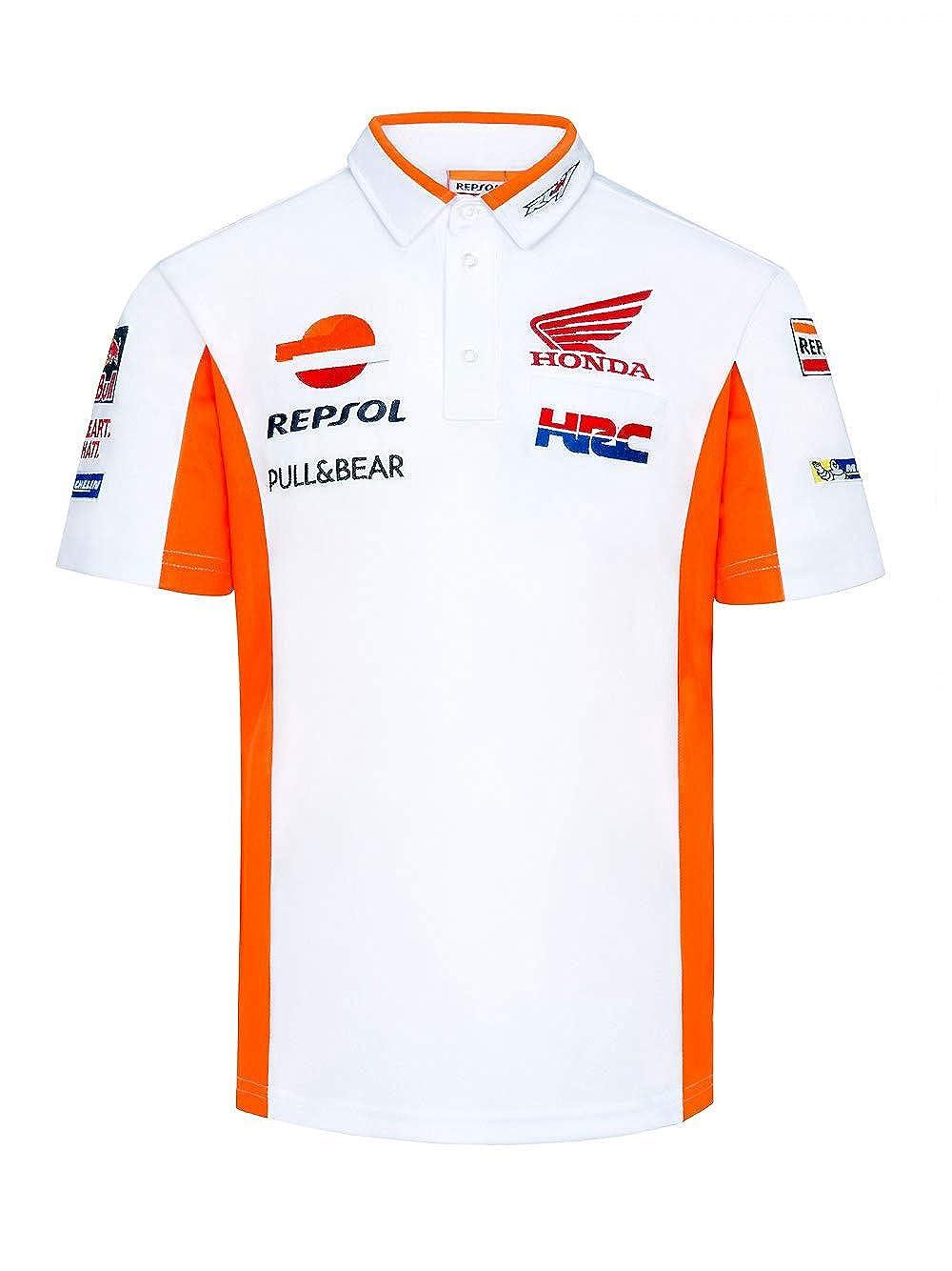 HRC Polo Oficial Racing Team MotoGP - Blanco - S: Amazon.es: Ropa ...