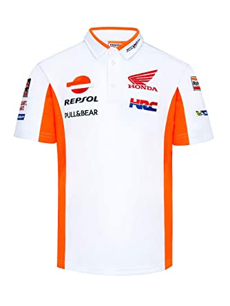 HRC Polo Oficial MotoGP Racing Team - Blanco - XXL: Amazon.es ...