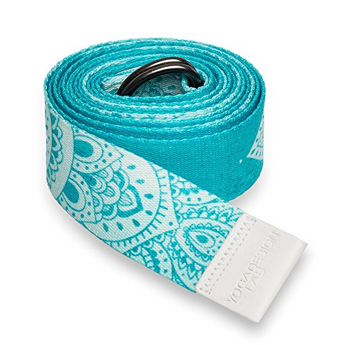 Luxury Yoga Strap by Yoga Design Lab. Extra-long, Super-soft, Printed Yoga Strap Designed to Love You Into Every Aspect of Your Beautiful Practice. 8ft. (Mandala)