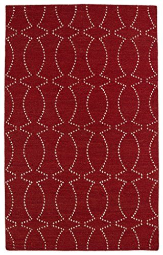 Glam Collection Handmade Flatweave Red Rug (3'6