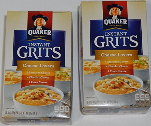 Quaker Cheese Lovers Instant Grits, Box of (12) 1-oz Pack...