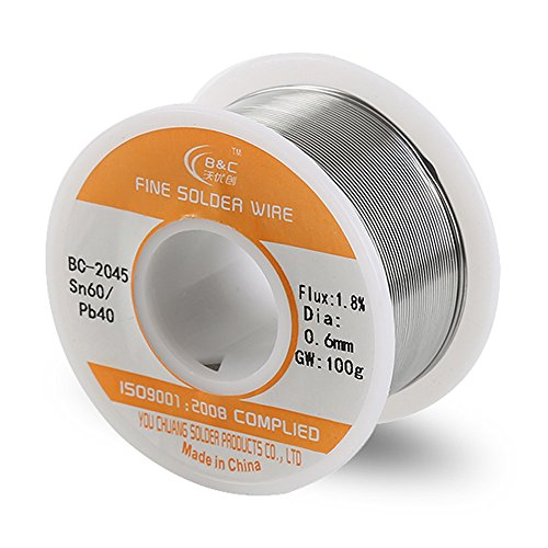 Why Should You Buy WYCTIN Diameter 0.6mm 100g 60/40 Active Solder Wire With Resin Core for Electrica...
