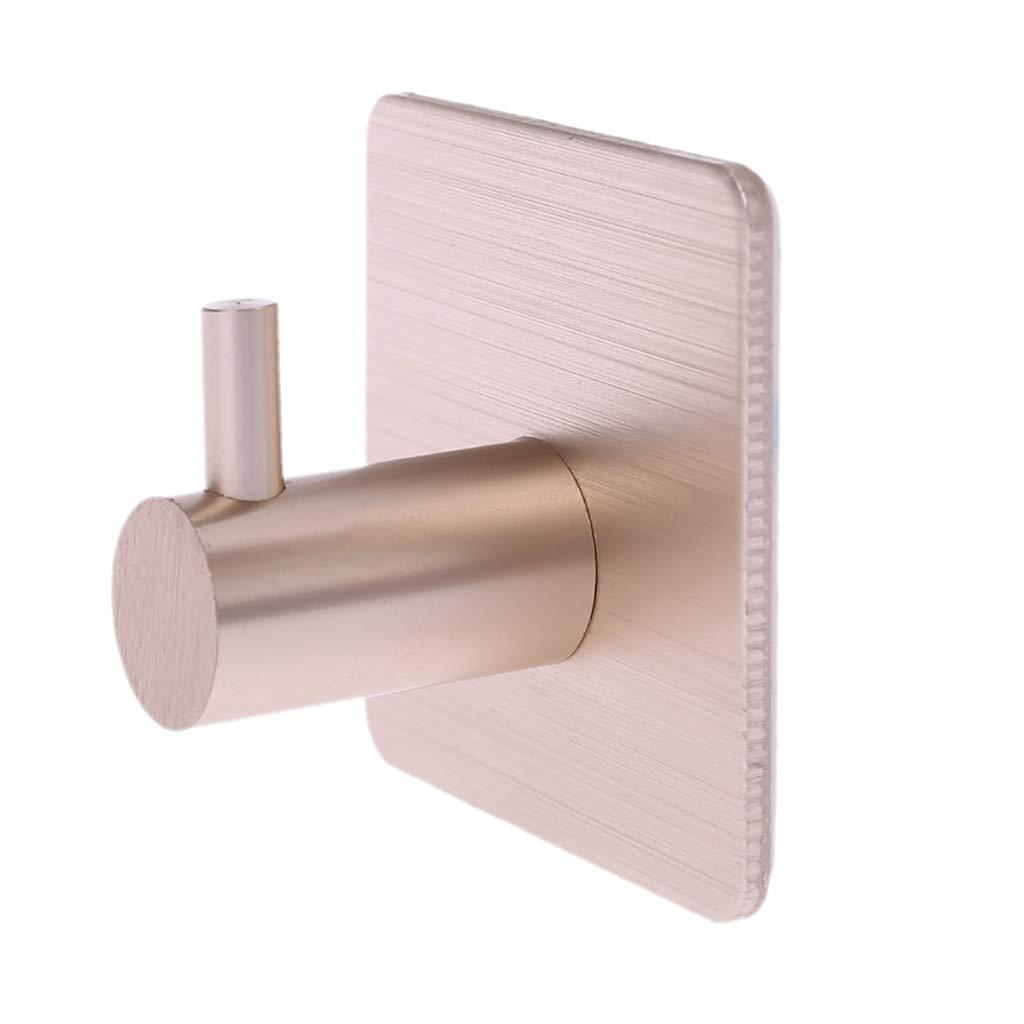 de aleaci/ón de aluminio multifuncional A0127 negro Gancho autoadhesivo para puerta de pared para cocina o ba/ño