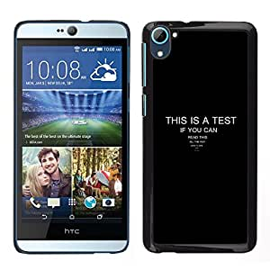 Stuss Case / Funda Carcasa protectora - This Is A Test - Funny - HTC Desire D826