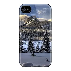 Durable Amazing Winter Lscape Hdr Back Case/cover For Iphone 4/4s