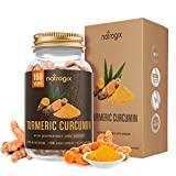 Turmeric Curcumin with Bioperine & Ginger 2415mg/Serving 180 VCaps by Natrogix – Best Vegan Joint Pain Relief, Anti-Inflammatory, Antioxidant with 95% Standardized Curcuminoids Supplement/Free E-Book