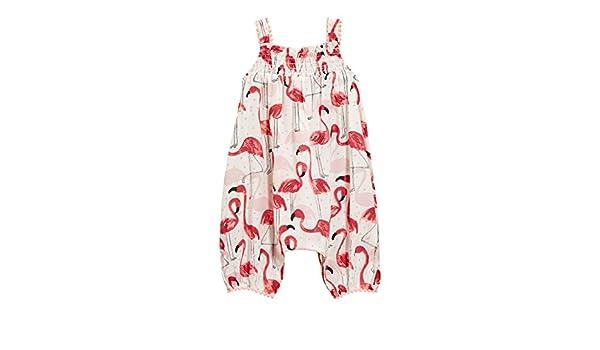 next Bebé Niña Pelele Estampado (0 Meses - 2 Años) Corte Estándar Crema Flamenco 1.5-2 años: Amazon.es: Ropa y accesorios