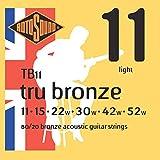 Rotosound TB11 Tru Bronze Acoustic Guitar Strings (11-52)