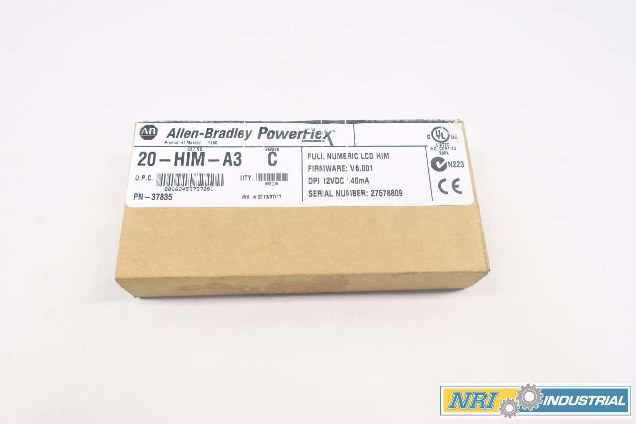 NEW ALLEN BRADLEY 20-HIM-A3 POWERFLEX SER C FULL NUMBERIC LCD HIM D535229